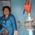 La gérante de la station d'eau
