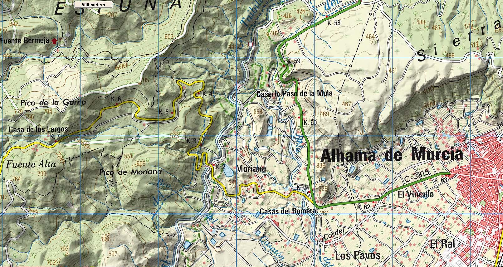 Carte Espagne Topographique.Cartes Espagne 1 25 000 Et 1 50 000 Horizon Dunes