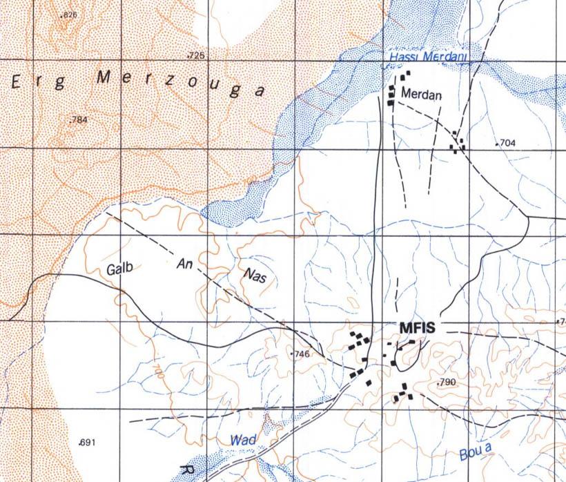 Maroc - Extrait carte 329 Mfis